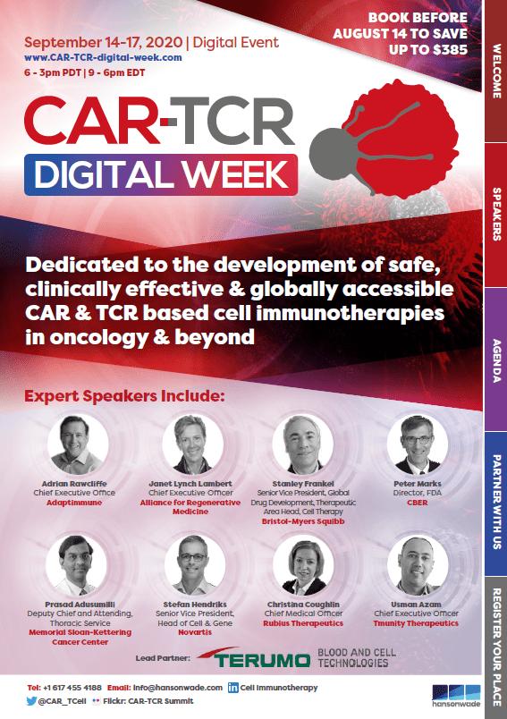 CAR-TCR Digi Week Brochure Cover